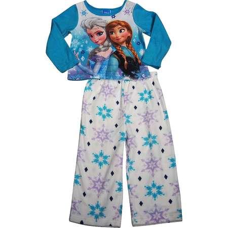 Frozen by Disney - Little Girls LS Anna and Elsa Pajamas turquoise fleece    2T thumb 6b52cd42f