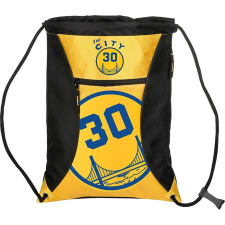 Golden State Warriors S. Curry #30 The City Big Stripe Zipper Drawstring Backpack thumb
