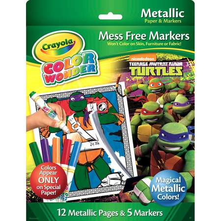 Crayola Color Wonder Metallic Paper & Markers, Teenage Mutant Ninja Turtles thumb