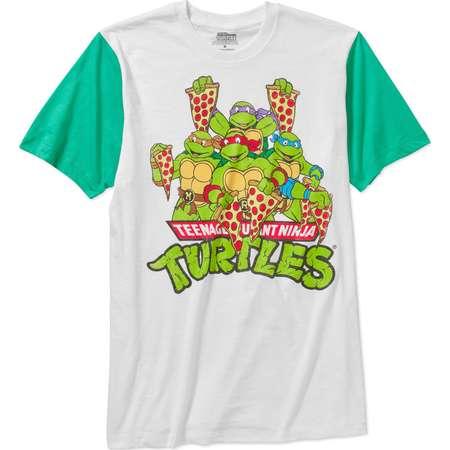 Teenage Mutant Ninja Turtles Pizza Power Mens White T-Shirt | S thumb