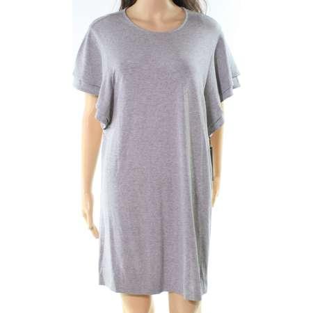 Felicity & Coco NEW Gray Womens Size Medium M Tiered Sleeve Shift Dress thumb