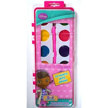 Disney's Doc McStuffins 12 Count Watercolor Paint Set (Doc McStuffins) thumb