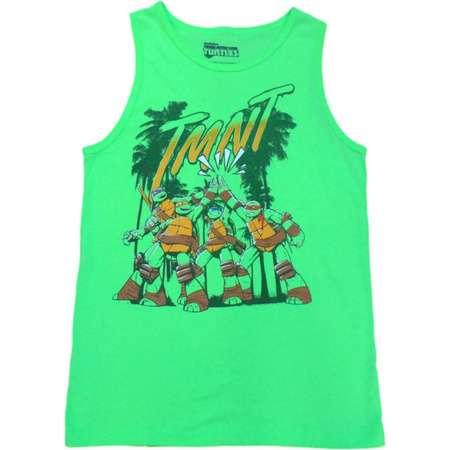 Teenage Mutant Ninja Turtles Boys Green TMNT Tank Top Sleeveless Shirt thumb