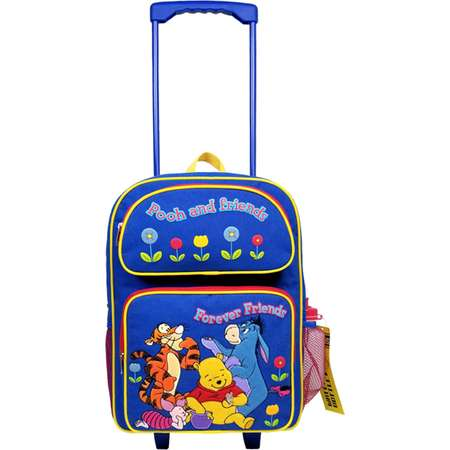 Winnie the Pooh Large Rolling Backpack with Water Bottle #18324-S thumb