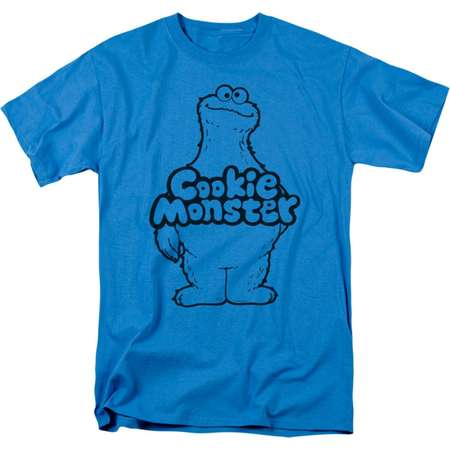 Sesame Street Classic Children's TV Show Cookie Monster Body Adult T-Shirt Tee thumb
