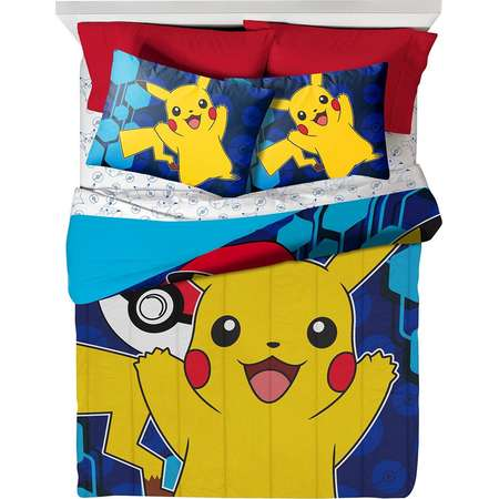 Pokemon Full Bedding Set with Throw, Pillow Buddy, Comforter and 4 Piece Sheet Set thumb