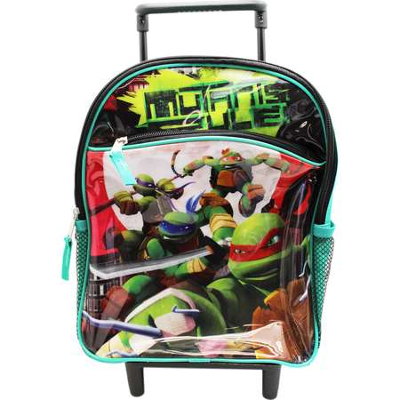 "Teenage Mutant Ninja Turtles ""Mutants Ruler"" Preschool Rolling Backpack (12in) thumb"