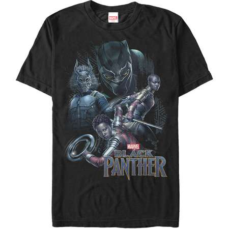 Marvel Black Panther 2018 Character View Mens Graphic T Shirt thumb
