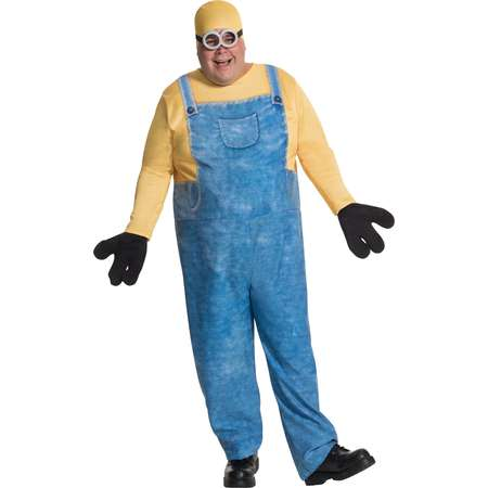 Minions Movie Minion Bob Men's Plus Size Adult Halloween Costume, XL thumb