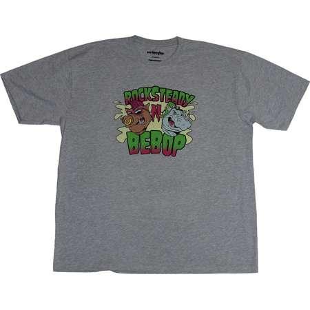 Teenage Mutant Ninja Turtles Mens T-Shirt - Rocksteady & Bebop Head Images thumb