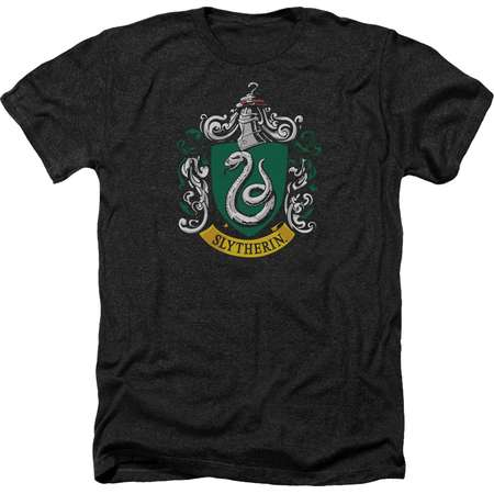 Harry Potter Slytherin Crest Mens Heather Shirt thumb