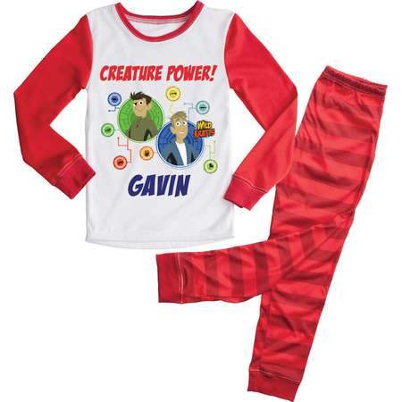 e583ab0046dd Wild Kratts Creature Power Red Kids Pajamas Set thumb