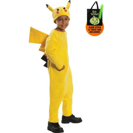 Deluxe Pikachu Pokemon Costume for Kids Treat Safety Kit thumb
