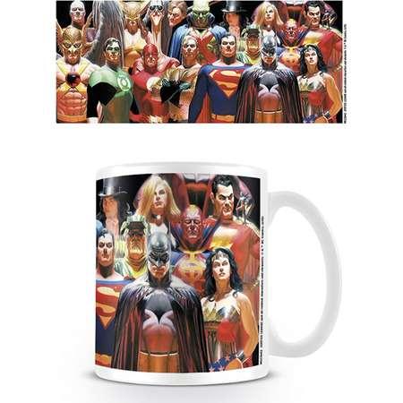 Justice League Of America - DC Comics - Ceramic Coffee Mug / Cup (The League - Batman, Superman, Wonder Woman, Green Lantern, The Flash...) thumb