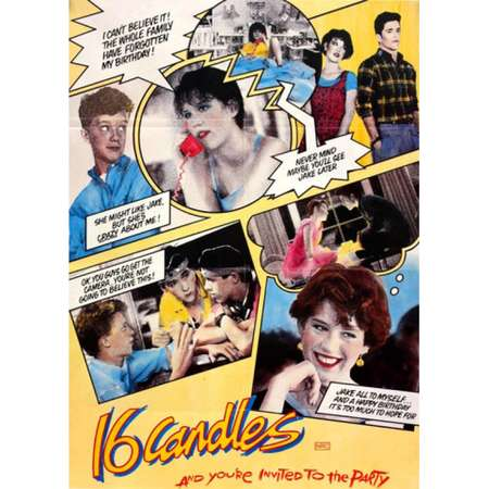 Sixteen Candles Collage Poster Poster Print thumb