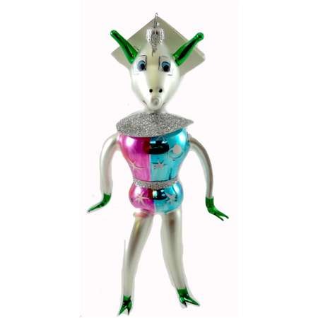 Laved Italian Ornaments ALIEN SPACEMAN Glass Outerspace 94304 thumb