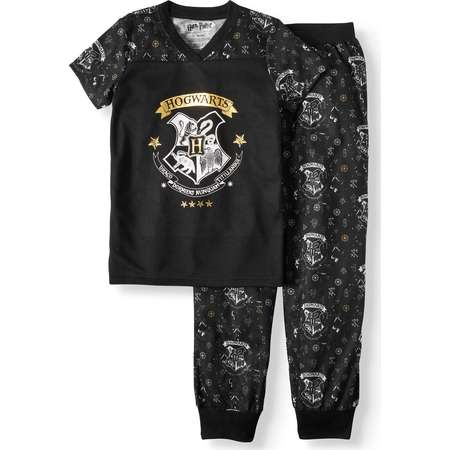 Harry Potter 'Hogwarts Gold Crest' Jogger Pajama Set (Little Girls & Big Girls) thumb