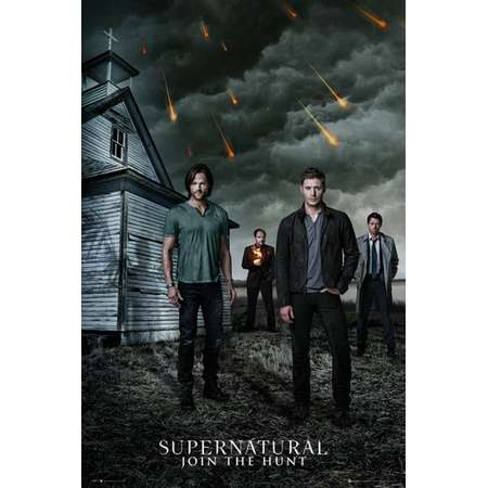 """Supernatural - TV Show Poster / Print (The Gang - Sam, Dean, Castiel & Crowley - Join The Hunt) (Size: 24"""" x 36"""") thumb"""