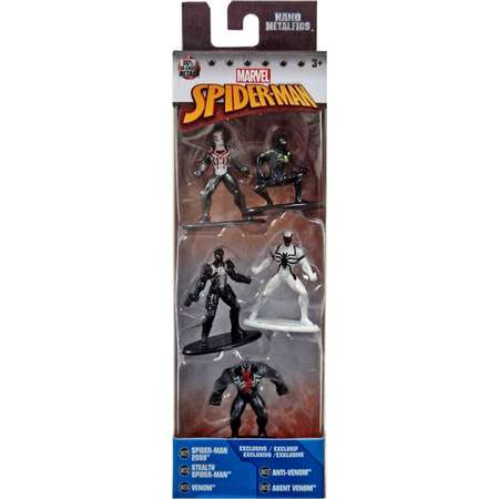 Marvel Nano Metalfigs Spider-Man 2099, Stealth Spider-Man, Venom, Anti-Venom & Agent Venom Diecast Figure 5-Pack thumb