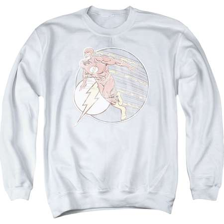 The Flash DC Comics Superhero Retro Flash Iron On Adult Crewneck Sweatshirt Tee thumb