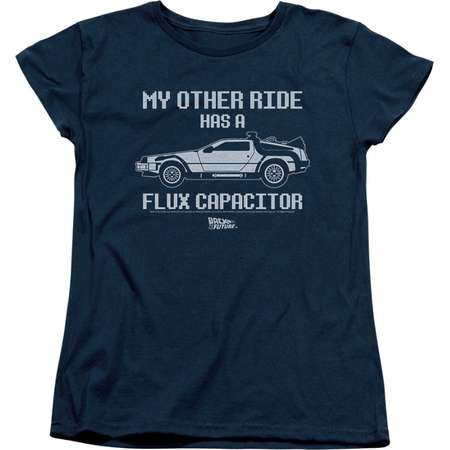 Back To The Future Sci-Fi Movie My Other Ride Flux Capacitor Women's T-Shirt Tee thumb