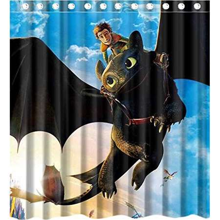 How to train your dragon pajamas toonstyle products deyou how to train your dragon shower curtain polyester fabric bathroom shower curtain size 66x72 inches ccuart Image collections