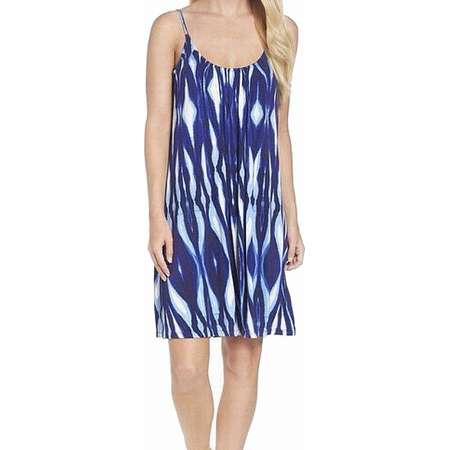 Felicity & Coco NEW Blue Women's Size Small S Shift Abstract Dress thumb