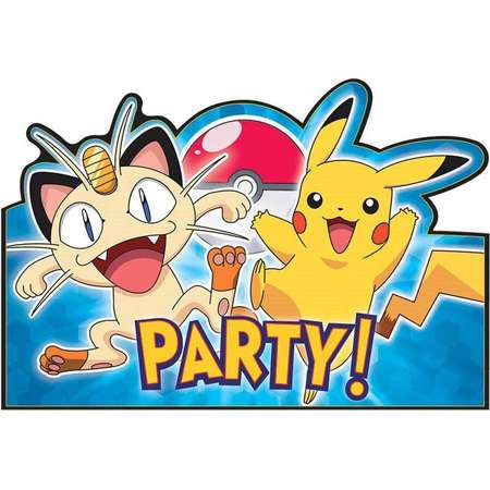 Pokemon Party Invitation Postcards, 8ct thumb