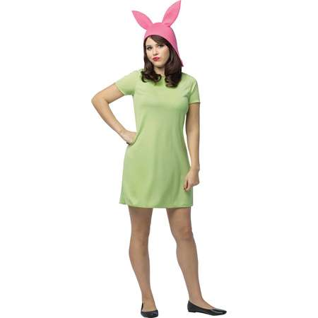 Bob's Burgers: Louise Green Dress Women's Adult Halloween Costume, One Size thumb