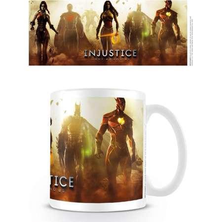 Injustice: Gods Among US - Ceramic DC Games Coffee Mug / Cup (Superheroes - Batman, SUperman, Wonder Woman & The Flash) thumb
