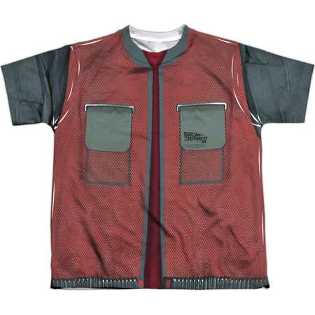 Back To The Future Men's  Future Jacket Sublimation T-shirt White thumb