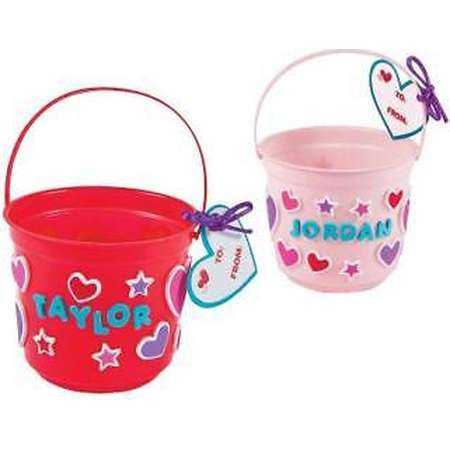 IN-13758300 Valentine Treat Bucket Craft Kit Makes 12 2PK thumb