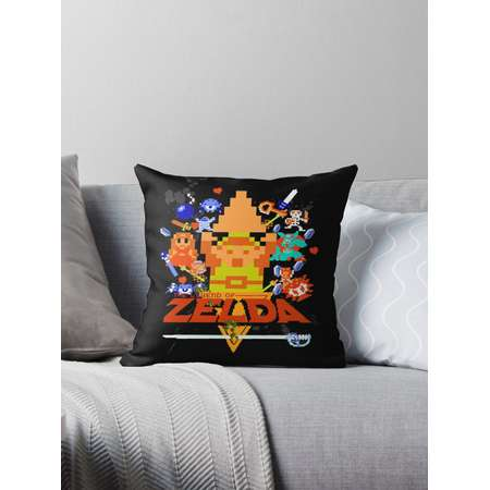 Star Wars Movie Poster Meets A Zelda Themed Epic Win! Throw Pillows thumb
