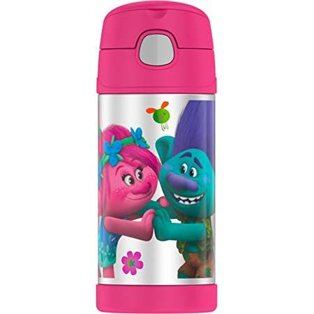 Thermos Funtainer 12 Ounce Bottle, Trolls thumb