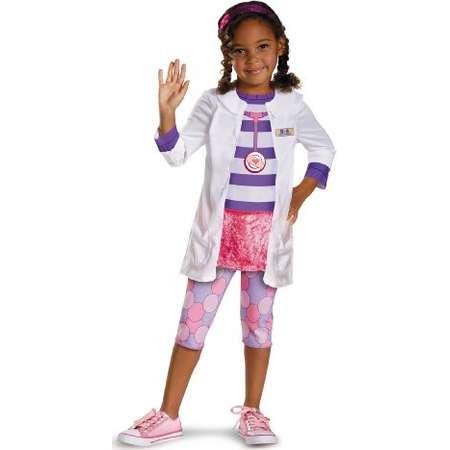 Disney Doc McStuffins Doc Classic Girls Costume, Medium/7-8 thumb