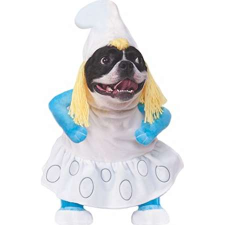rubies smurfs the lost village walking smurfette pet costume x large thumb