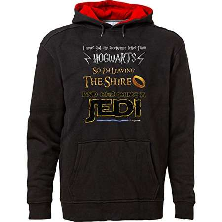 BSW Unisex Harry Potter Lord Of The Rings Star Wars Jedi Fan Hoodie 2XL Blk/Red thumb