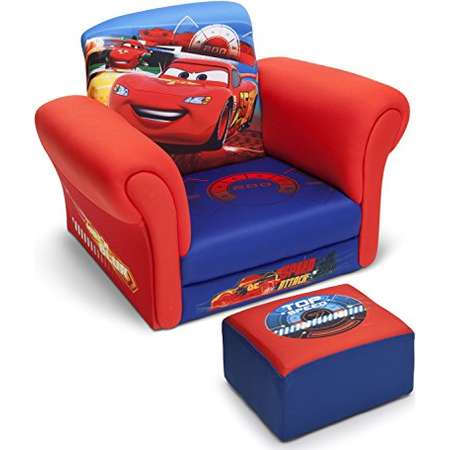 Delta Children Upholstered Chair with Ottoman, Disney/Pixar Cars thumb
