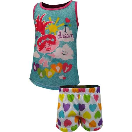 Trolls I Dream Happy Shortie Pajama For Little Girls thumb