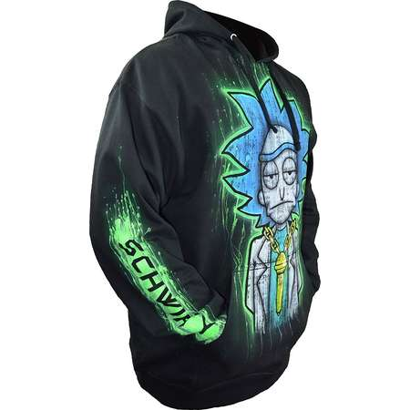 Sid Vicious Rick and Morty Hoodie Hand Airbrushed Personalize With Name  thumb