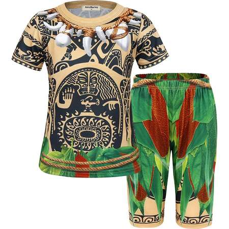 AmzBarley Maui Little Boys' 2 Piece Sleepwear Short Pajamas Sets For Moana thumb