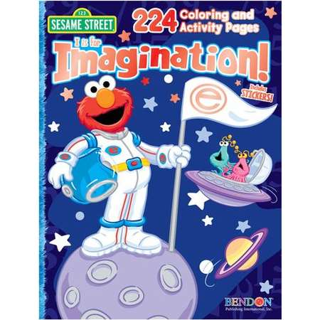 Sesame Street I is for Imagination Coloring and Activity Book thumb
