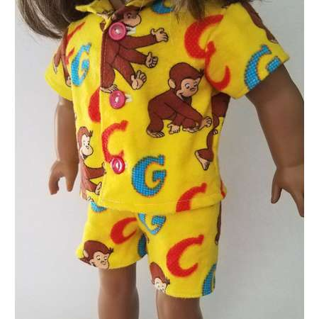 "Curious George 18"" Boy or Girl Doll Pajamas thumb"