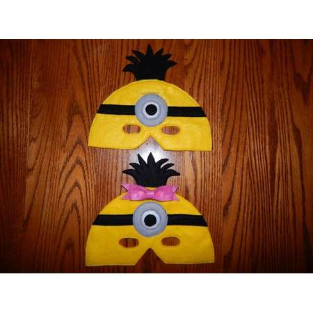 5eddb18e6726 Inspired by Despicable Me Single Eye Minion Felt Mask Costume Accessory -  Any Size Available thumb