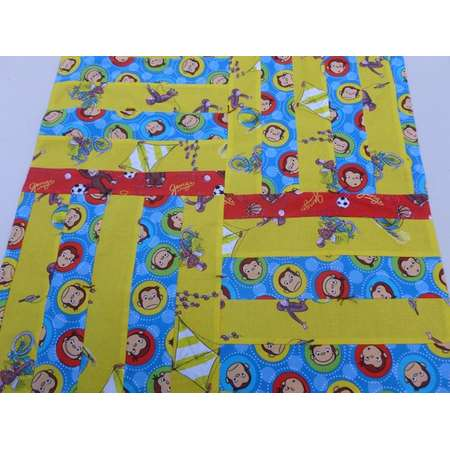 Curious George doll quilt or mini blanket thumb