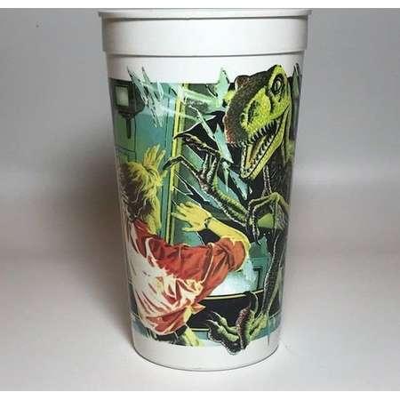 VELOCIRAPTOR Vintage 1992 Jurassic Park McDonald's Plastic *dinosaur coke glass Vintage Retro Classic Original thumb