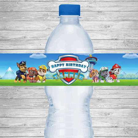 Paw Patrol Water Bottle Labels, Paw Patrol Birthday Party Labels, Paw Patrol Printable Party Supplies, Paw Patrol Birthday Party Invitation thumb