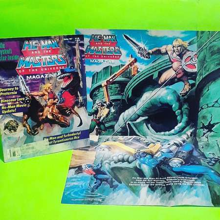 HE-MAN And The Masters Of The Universe Magazine and poster tv show cartoon comic book movie interview maze puzzle 80s 80's '80s 90s kid kids thumb