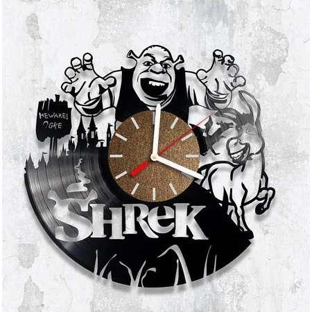 Vinyl Clock, Vinyl Clock Shrek, Gift For Child, Wall Clock, Handmade Clock thumb