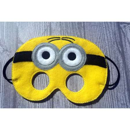 7f9a443a185b Minion Inspired Mask, Despicable Me Mask, Child's Mask, Halloween Costume,  Pretend Play